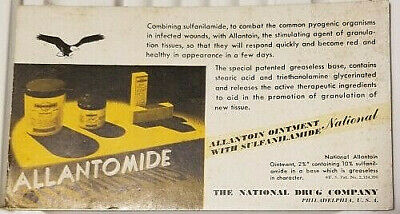 Allantomide Treatment for Cuts National Drug Co Advertising Blotter circa 1930