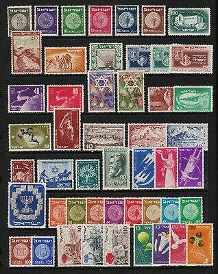 Israel - 49 older stamps - see scan