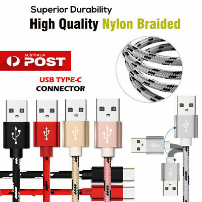 Fast Speed Charging USB Type C Data Charger Cable For Samsung Huawei Google LG