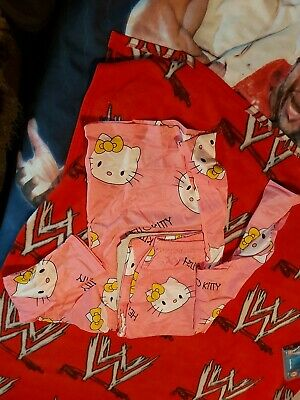 Girls Hello Kitty Pink Cotton Pyjamas