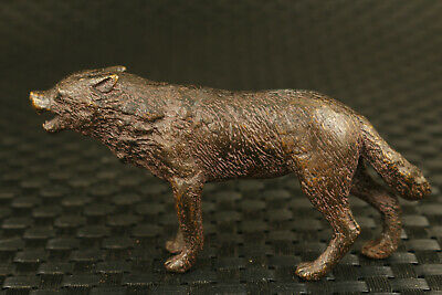 chinese old bronze hand cast wolf Statue collectable decoration cool gift