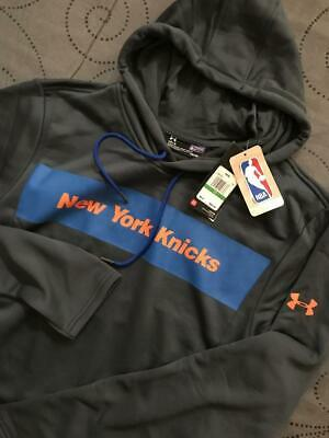 Under Armour New York Knicks Combine Nba Basketball Hoodie L Men Nwt $89.99