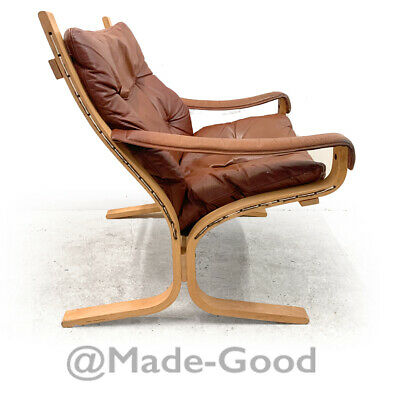 1960s 1970s retro vintage DANISH LEATHER INGMAR RELLING SIESTA LOUNGE CHAIR