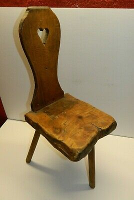 Primitive/Rustic Hand Made Antique Stool Doll/Child's Chair