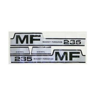 MF235 New Massey Ferguson 235 Tractor Hood Decal Set w/ Diesel & MF Hump Decals