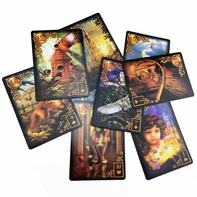 47Pcs Read Fate Lenormand Oracle Cards Mysterious Fortune Tarot Cards Game Gift