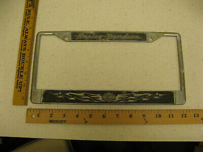 Harley Davidson Motorcycles Motorcycle Silver Chrome Metal Frame License Plate