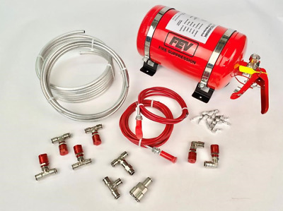 FEV Motorsport Rally Race Mechanical Plumbed-In Fire Extinguisher 4.0ltr