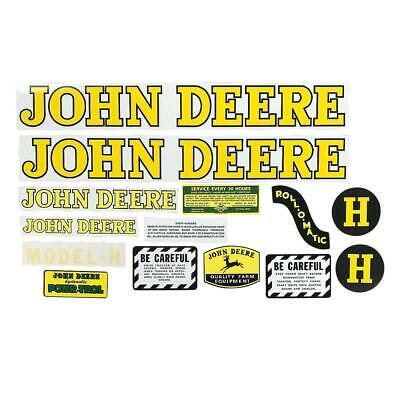 Tractor Decal Set fits John Deere Model H 1939 & up- NEW FREE SHIPPING