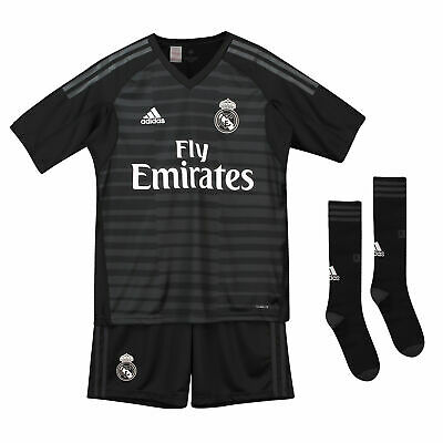 Real Madrid Football Home Goalkeeper Kids Shorts T-Shirt Socks Kit 2018-19