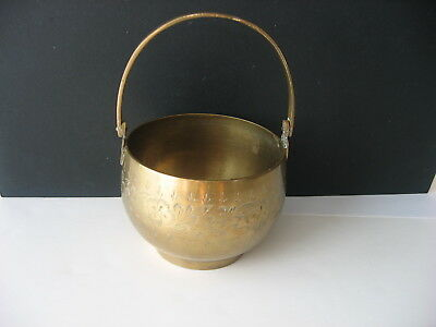 Brass Pot with Handle from India