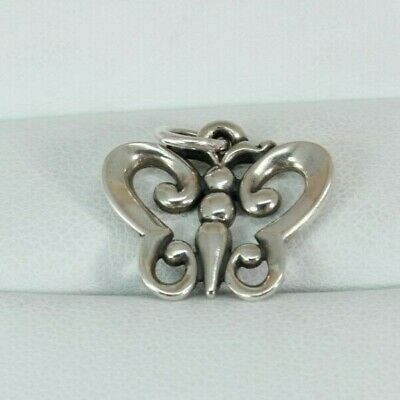 James Avery Sterling Silver Open Wing Butterfly Charm Rare Free Shipping!
