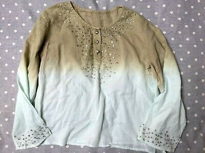 The Little White Company - Sequin & diamonte Blouse Age 3-4-5 yrs
