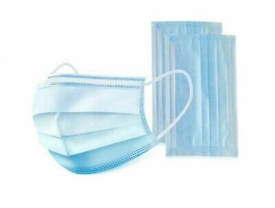 100 PCS Disposable Face Mask Medical Dental 3-Ply Ships FedEx 2-Day