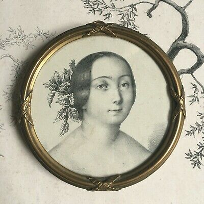 Antique Frame Bronze Ribbon Xixè Napoleon III - Victorian French Frame 19thC