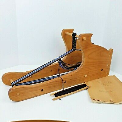 Vintage Inkle Style Loom With Shuttle Instructions