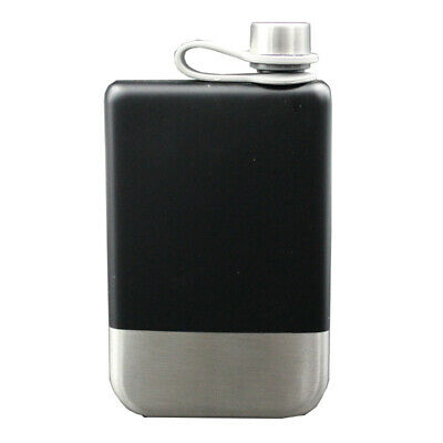 F5C5 Stainless Steel 6Oz Hip Flask Screw Cap For Whisky Alcohol U7B1