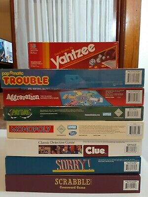 8 Board Games NEW Retro Series Target Clue Sorry Trouble Scrabble Aggravation