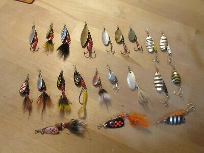 LOT OF 10 MEPPS Aglia Spinner Fishing Lures Sizes 0 stream trout Panfish crappie