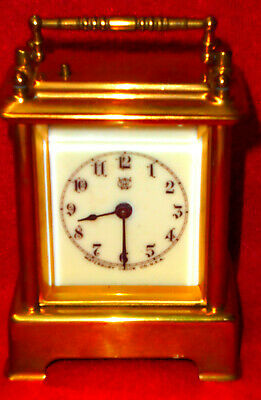 1891 Waterbury Repeater Brass American Carriage Clock--Back Door Dated