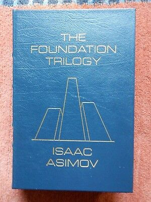 The Foundation Trilogy - Signed by Isaac Asimov - Easton Press - Never Read!