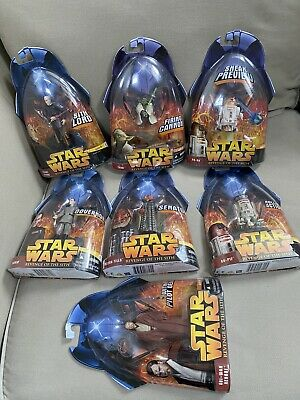 Star Wars Revenge of the Sith Action Figures Lot 7 Mint On Card MOC Fast Ship!