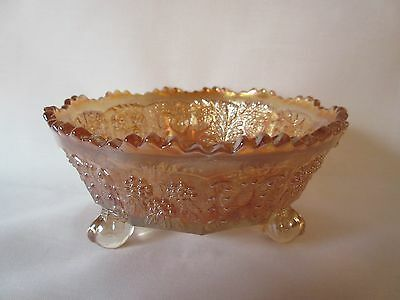 Fenton Panther Marigold Carnival Glass Small Berry or Sauce Bowl