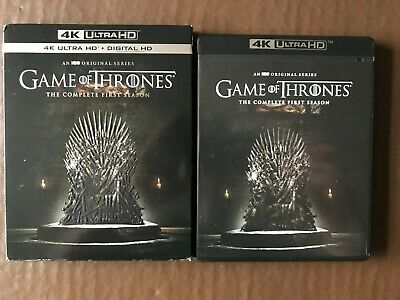 Game of Thrones First Season 1 4K UHD Disc in case US IMPORT