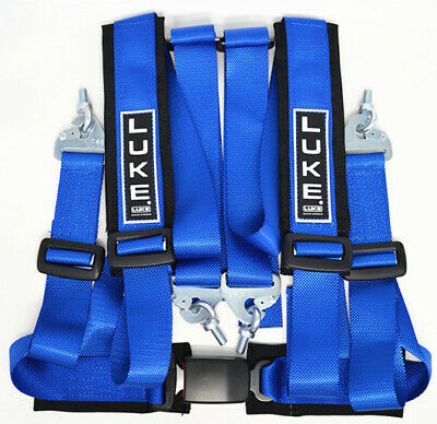 Universal Luke GM4 GHR4 Sports Road/Track Day 4 Point Harness In Blue