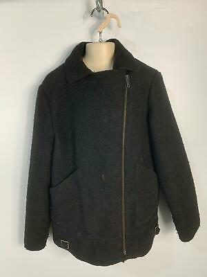 Girls Zara Girls Black Winter Zip Casual Biker Coat Jacket Kids Age 11/12 Years