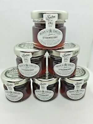 6 x Mini Jars Of Tiptree Wilkin & sons  Spread 28g Orange Strawberry Apricol
