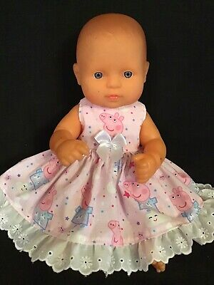 Dolls clothes made f to fit 32cm Miniland  Dolls (size Small).  Sleeveless Dress