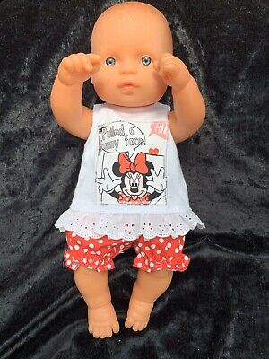 Dolls clothes made to fit 32cm Miniland  Dolls (size Small). Singlet And Pants