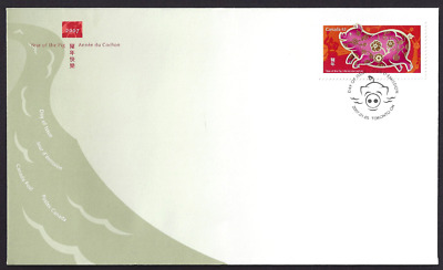 Canada  # 2201    Lunar  Year of the Pig    Brand New  2007 Unaddressed Cover
