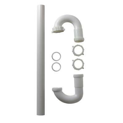 LASCO RV270 P-Trap with 1 1//4-Inch OD Tubular Nuts and Washers PVC White Plastic