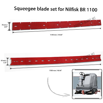 Squeegee blade set for Nilfisk BR 1100 / BR 850 FREE WORLDWIDE SHIPPING!