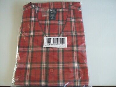 New In Package  John Blair Men's 4Xl 2 Piece Red Plaid Pajama Set 607276 2308
