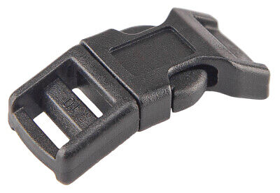 100 - 1/2 Inch Contoured Side Release Plastic Buckles