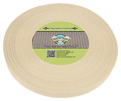 Country Brook Design® 1 Inch Cream Polypro Webbing, 25 Yards