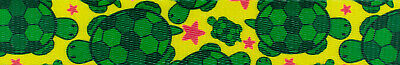 Country Brook Design® 1 Inch Turtles Polyester Webbing, 5 Yards