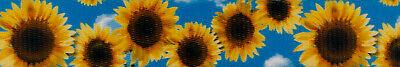 Country Brook Design® 1 Inch Sunflowers Polyester Webbing - 5 Yards