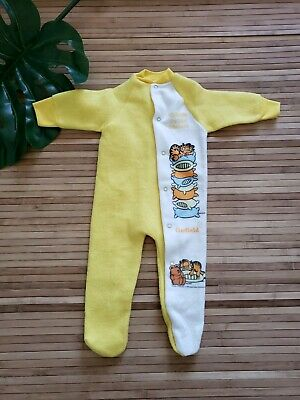 Vintage Garfield One Piece Footed Pajama Sleeper Baby Sz 12 Months 1978