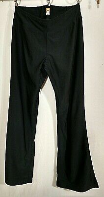 LUCY Tech Stretch Yoga Pants Womens Small Black Flared Pull On USA Made 2 4 6 8