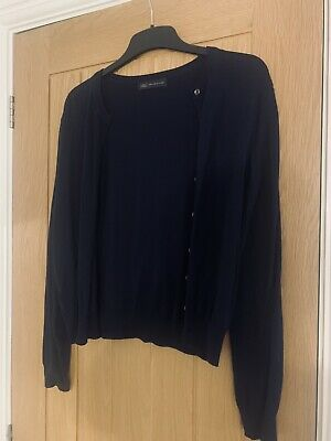 NEW BHS NAVY Blue Cardigan Short Sleeve Top Size 12 £8.00