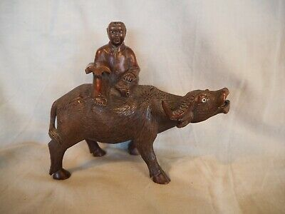 Chinese carved wooden water buffalo