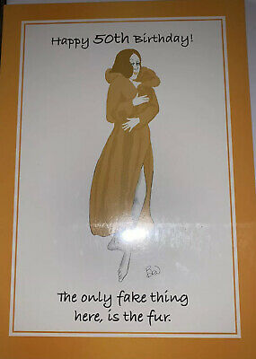 Ladies 50th Birthday Card Fifty Today Age 50 Funny