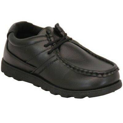 Boys School Shoes Renegade Sole Kids Lace Up Smart Formal Boat Deck Fashion New