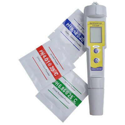 1X(Professional Mini Ph Meter Automatic Correction Waterproof Acidity Meter Z8O6