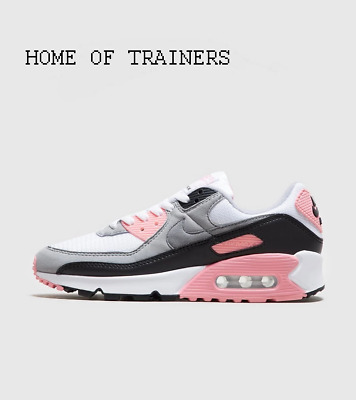 Nike Air Max 90 White Pink Grey Girls Women's Trainers All Sizes