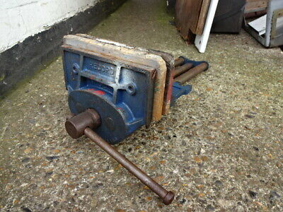 Record 52 1/2 p wood working vice carpenters vice